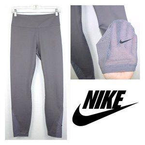 NWOT Nike Mesh Athletic Leggings Yoga Pants Gray